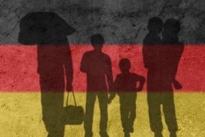 bh deutschlandfahne fluechtlinge I